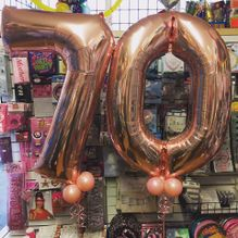 rose gold jumbo birthday numbers